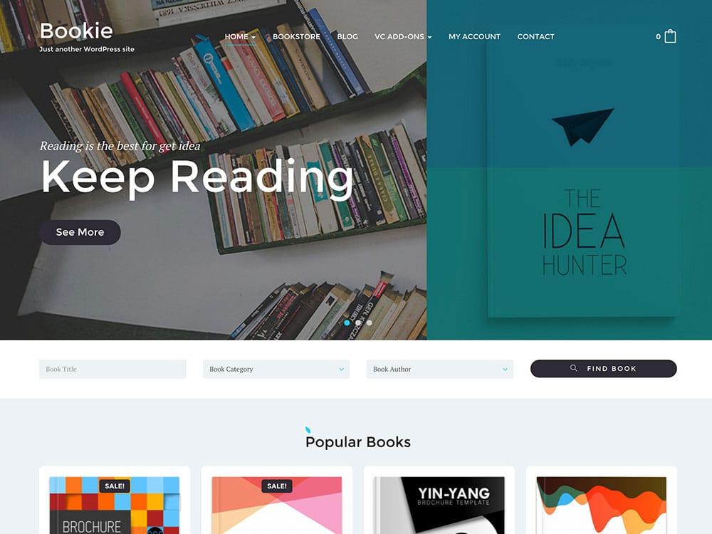 WordPress Kitap Satış Teması