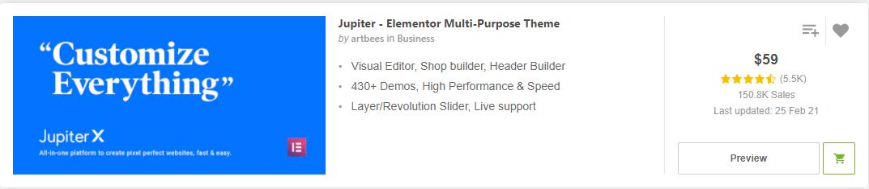 Jupiter - Elementor Multi-Purpose Theme