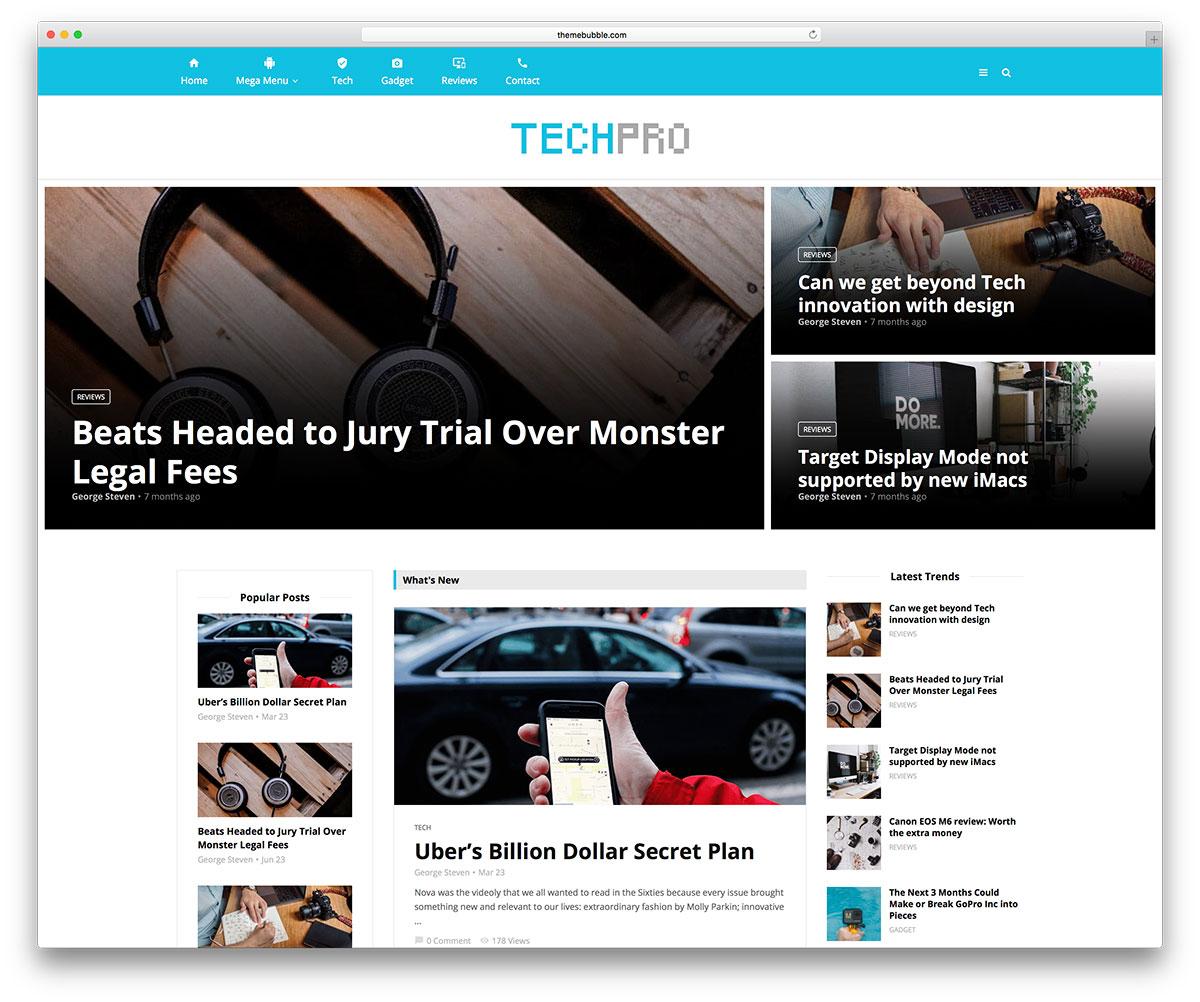 magplus technology news site wordpress theme