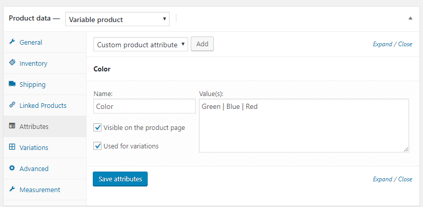 WooCommerce Varyasyonlu Ürün Ekleme 3